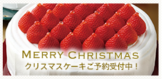 Merry Christmas クリスマスケーキ予約受付中!